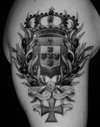 Portuguese Crest Tattoo